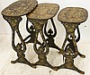 Set of 3 Chinosiere decorated oval stacking tables