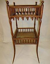 Victorian Wood and Bamboo Plant Stand