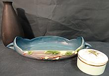 2 Roseville Pottery+1 Royal Worcester- Vintage