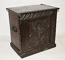 17th Century Spanish Carved Pine Chest