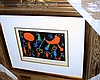 Joan Miro-Persons/Black Background-Signed Pochoir