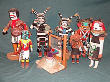 Lot of 8 Native American Dolls Navajo and Hopi