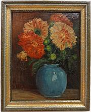 Jacques Maes- Still Life w/Flowers- Oil on Canvas
