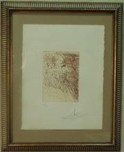 Original Signed Salvador Dali Litho.