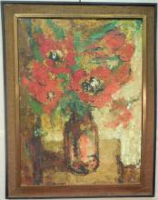 Idka French Abstract Oil on Canvas Still Life