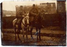 Tintype Confederate Soldiers Horseback & City