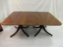 Modernist Dining Table with 2 Leaves