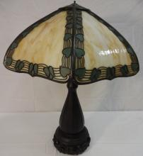American Arts & Crafts Art Glass Table Lamp