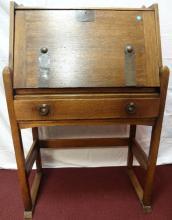 Am. Arts & Crafts Stickley Oak Slant Front Desk