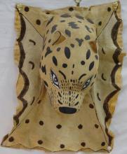 Papier Mache Leopard Head & Pelt