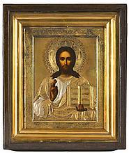 Christ Pantokrator, icône russe ...