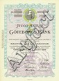 Aktiebolaget Göteborgs-Bank [4 Stück]