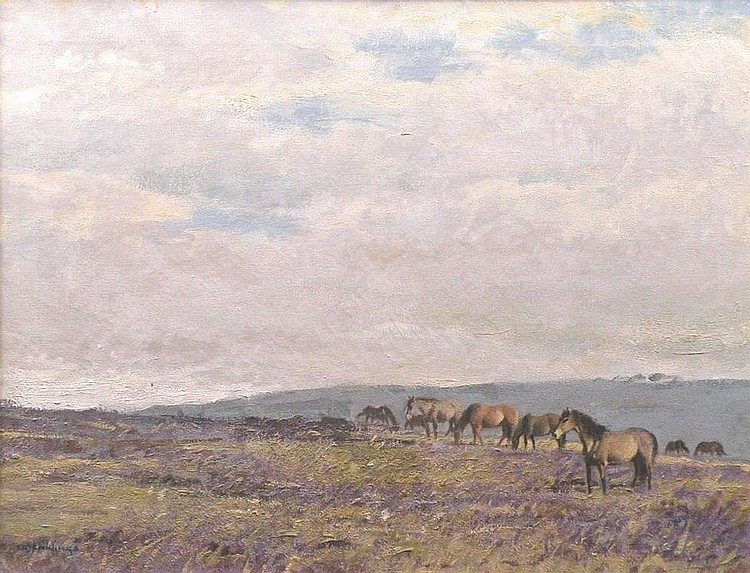 Walter Robin Jennings 'Ponies on Dunkery Beacon,