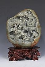 Jade Village Scenery Carving