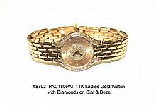 14K Ladies Concord Gold Watch with Diamonds
