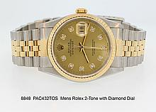 Mens Rolex 2-Tone with Diamond Dial