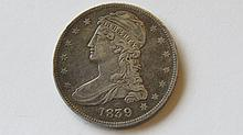 1839 Capped Bust Half Dollar Silver US Coin