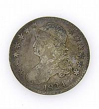 1824 Capped Bust Half Dollar 50 Cents Silver US Coin