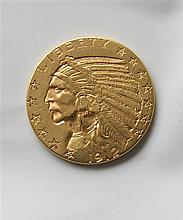 1912 Indian Head 5 Five Dollar Gold US Coin