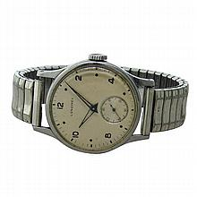 Longines Steel Military Style Watch