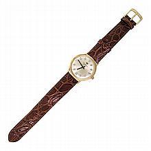 Jules Jurgensen 14k Gold Diamond Manual Wind Watch