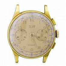 Titus 18k Gold Chronograph Manual Wind Watch