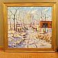 Christopher Willett Oil on Canvas Winter Scene Plumstead PA