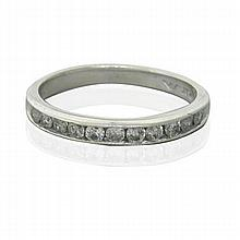 Platinum Diamond Half Band Ring