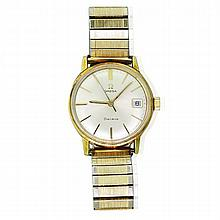 Omega Seamaster 10K Gold Stainless Steel Watch