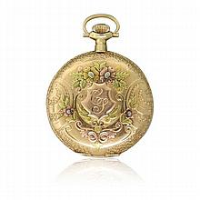 Waltham 14k Gold 15 Jewel Pocket Watch