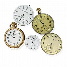 Pocket Watch Movement Lot of 5