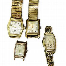 4 Vintage Gold Filled Watches
