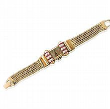 Paul Ditisheim Solvil Retro Gold Diamond Ruby Watch