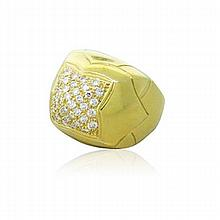 Bvlgari Bulgari Pyramide 18K Gold Diamond Ring