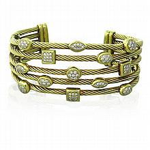 David Yurman Confetti 18k Gold Diamond Bracelet