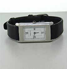 Tiffany & Co Stainless Steel Leather Band Watch