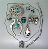 Native American Zuni Gemstone Jewelry Lot