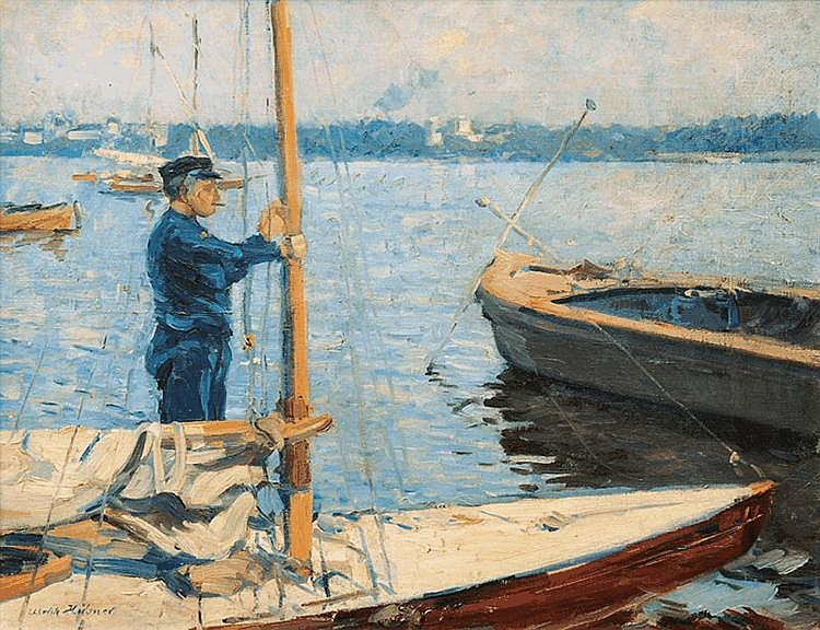 Boats on the Außenalster