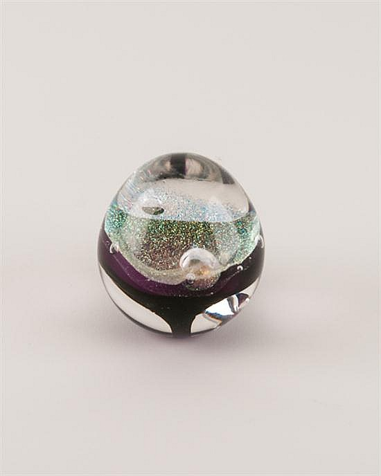 A Sherburne Slack Glass Paperweight,