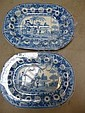 TWO ROGERS PEARLWARE MEAT PLATES, c.1820's, of