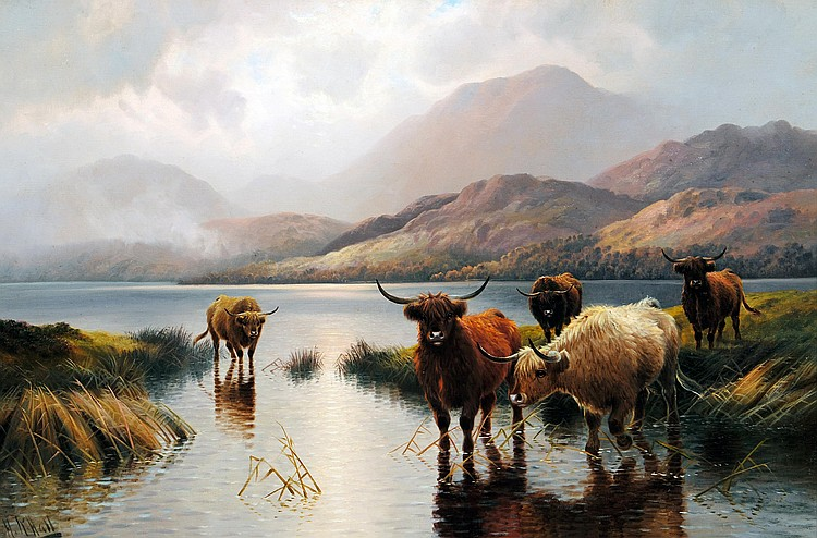 HENRY R HALL (fl 1875-1902), Loch Ness (Early