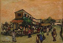 CHIA YU CHIAN (b. 1936 - d. 1990), Jinjang Village, Selangor, 1969, oil on canvas
