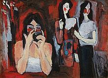 BUI XUAN PHAI (b. 1921 - d. 1988), Opera Cheo, 1984, oil on canvas