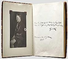 DRITTES REICH ZEITGESCHICHTE - An early autograph album  presumably from the estate of a party official