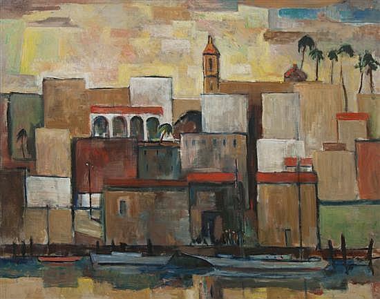 Harry Hutchinson Shaw, (American, 1897-1989), Port View