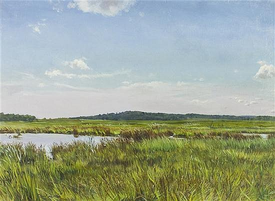 * Alicia Czechowski, (American, b. 1953), Salt Marsh
