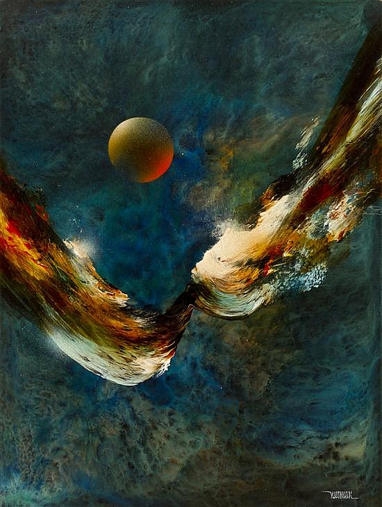 Leonardo Nierman, (Mexican, b. 1932), Flight to Sun