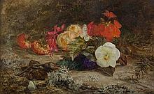 Mary Vernon Morgan, (British, 1871-1927), Still Life with Flowers and Butterfly, 1871