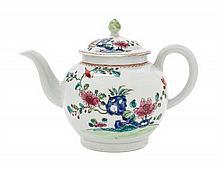 An English Porcelain Teapot 5 1/2 inches.