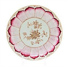 A Chinese Export Porcelain Charger Diameter 12 inches.